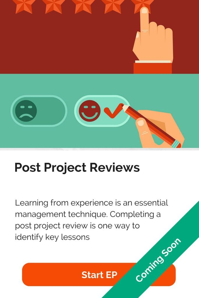 Post Project Reviews - Execution Plan
